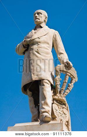 Marble statue. Molfetta. Puglia. Italy.