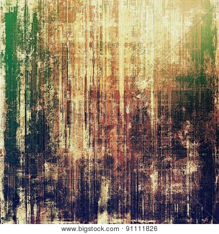 Antique vintage textured background. With different color patterns: yellow (beige); brown; green; purple (violet)