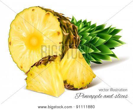 Pineapples. Vector illustration.