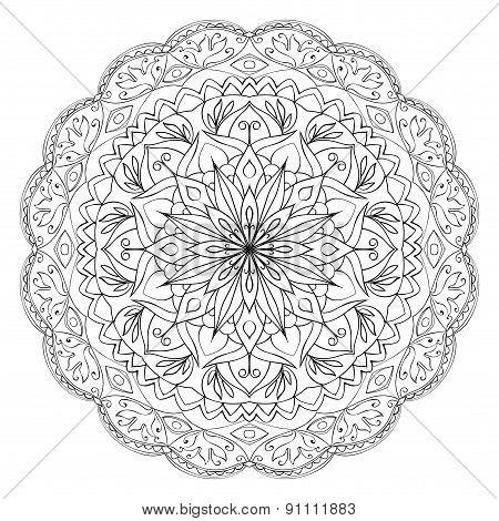 Ethnic Eastern Circular Pattern