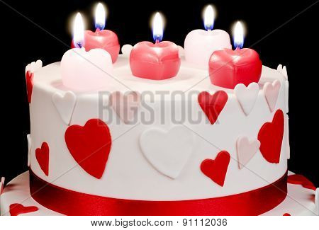 Cake With Hearts
