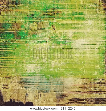 Vintage aged texture, colorful grunge background with space for text or image. With different color patterns: yellow (beige); brown; gray; green