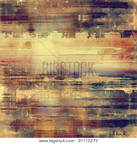 Grunge stained texture, distressed background with space for text or image. With different color patterns: yellow (beige); brown; purple (violet)