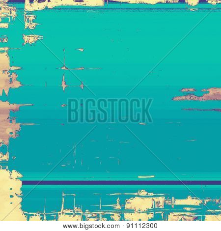 Abstract old texture as background for your text. With different color patterns: yellow (beige); blue; cyan