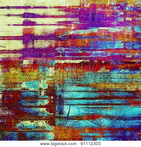Grunge stained texture, distressed background with space for text or image. With different color patterns: yellow (beige); pink; purple (violet); red (orange)