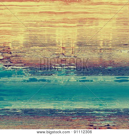 Old-style background, aging texture. With different color patterns: yellow (beige); brown; blue; cyan