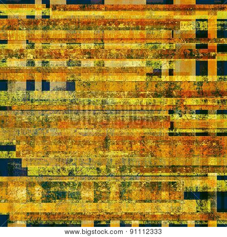 Rough vintage texture. With different color patterns: yellow (beige); brown; blue; red (orange)
