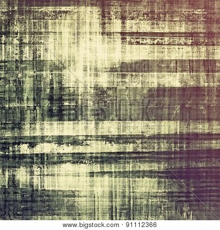 Aged grunge texture. With different color patterns: brown; gray; green; purple (violet)