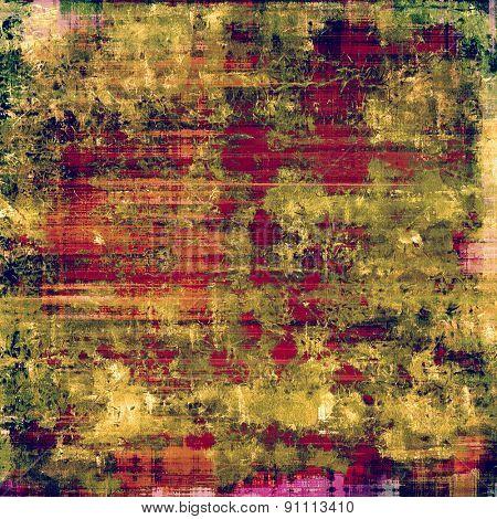 Art grunge vintage textured background. With different color patterns: yellow (beige); green; pink; red (orange)