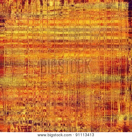 Rough vintage texture. With different color patterns: yellow (beige); brown; red (orange)
