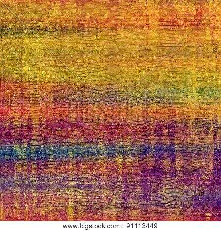 Grunge aging texture, art background. With different color patterns: yellow (beige); green; blue; purple (violet); red (orange)