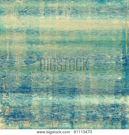 Aged grunge texture. With different color patterns: yellow (beige); green; blue; cyan
