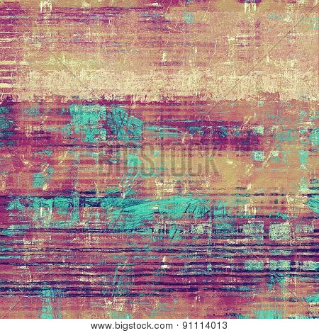 Textured old pattern as background. With different color patterns: brown; pink; blue; purple (violet)