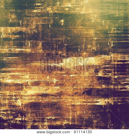 Old-style background, aging texture. With different color patterns: yellow (beige); brown; green; purple (violet)
