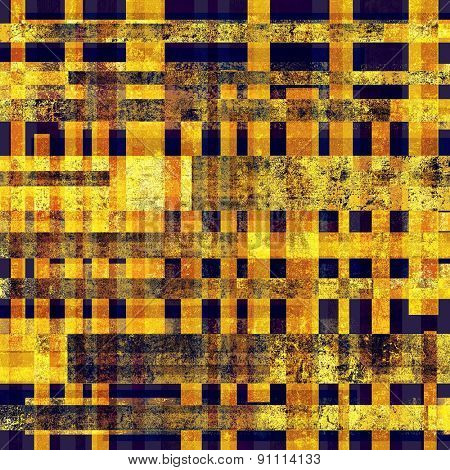 Old designed texture as abstract grunge background. With different color patterns: yellow (beige); brown; black; blue