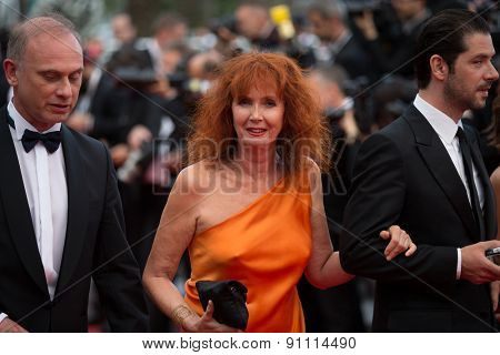 Actress Sabine Azema attends the 'Sicario' premiere during the 68th annual Cannes Film Festival on May 19, 2015 in Cannes, France.