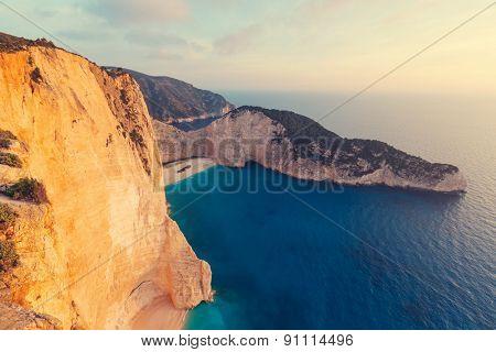 Beautiful Navagio Beach on Zakynthos Island in Greece