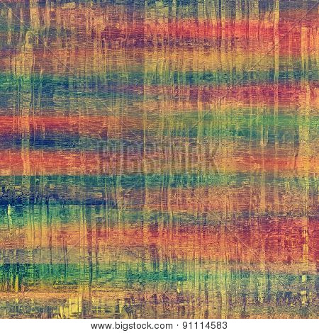 Textured old pattern as background. With different color patterns: yellow (beige); green; blue; red (orange)