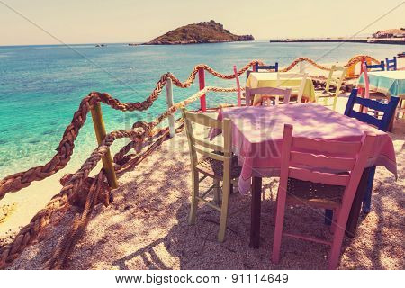 Restaurant on Greece coast