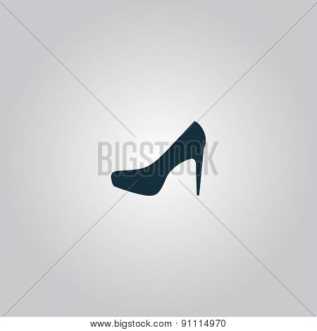 female shoes, web icon. vector design