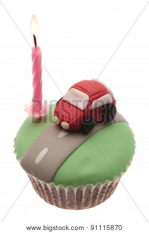 Cupcake With Car Celebration