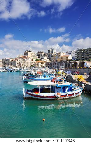 old port of Heraklion, Crete, Greece
