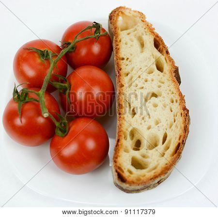 Mediterranean Diet Bread And Tomato