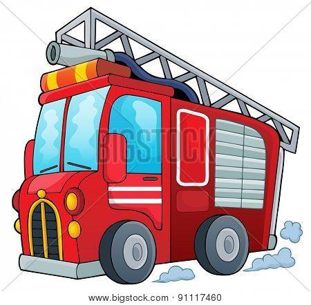 Fire truck theme image 1 - eps10 vector illustration.
