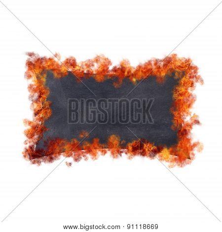 Blackboard In Flames.