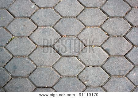 Dirty Patterned Paving Tiles