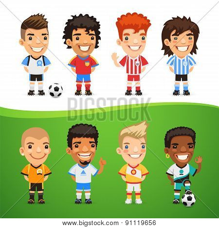Cartoon International Soccer Players Set