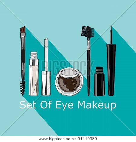 set of makeup for the eyes