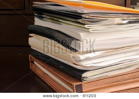 Stack Of File Folders & Paperwork