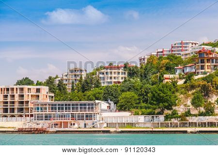 Cityscape Of Kavarna, Coastal Town, Bulgaria