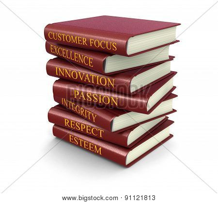 Stack of business related Books  (clipping path included)