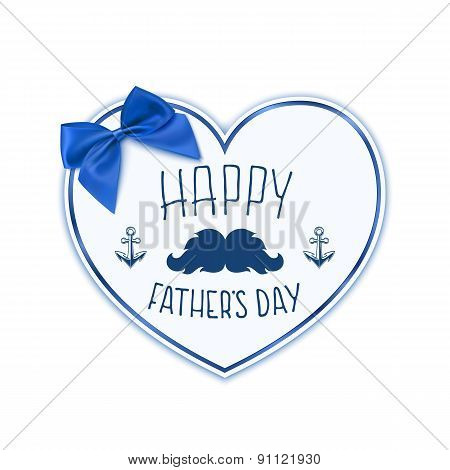 Happy Fathers Day. Background with paper heart.