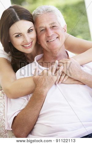 Adult DaughterHugging Father