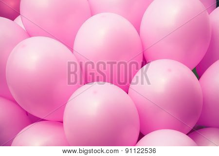 pink balloons background