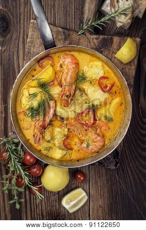 Brazilian fish and seafood stew - Moqueca de Peixe