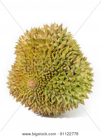 Durian Fruits On White Background