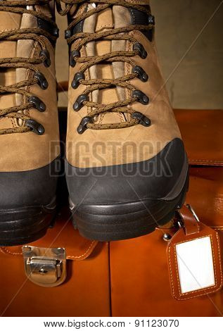 Pair Of Boots With Suitcase