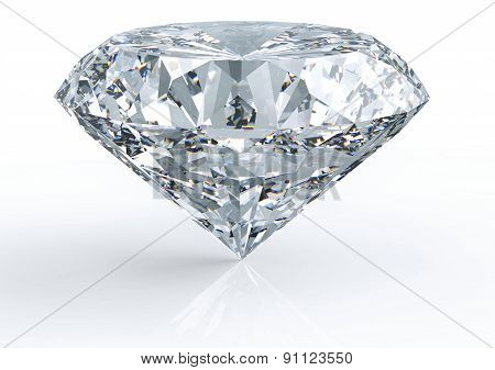 Diamond Isolated On White