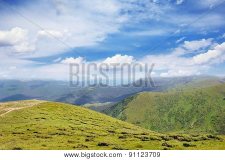 Beautiful mountains and blue sky