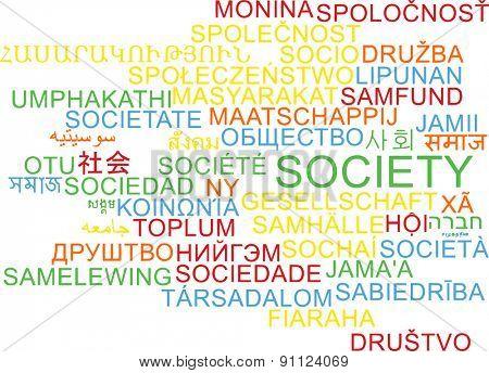 Background concept wordcloud multilanguage international many language illustration of society