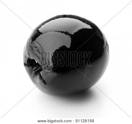 Black olive isolated on white