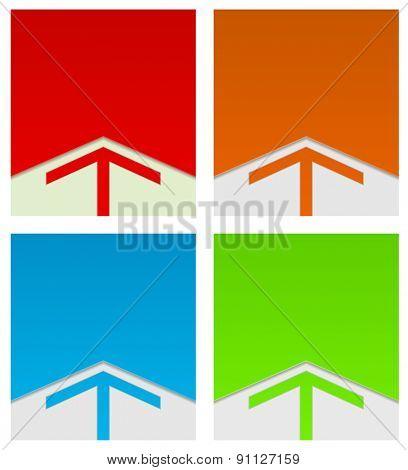 corporate arrow background template