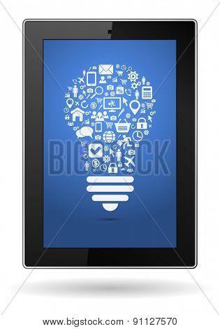 smartphone social media concept lightbulb design