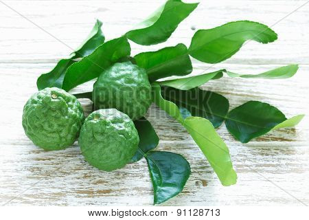 Bergamot Kaffir Lime Leaves Herb Still Life