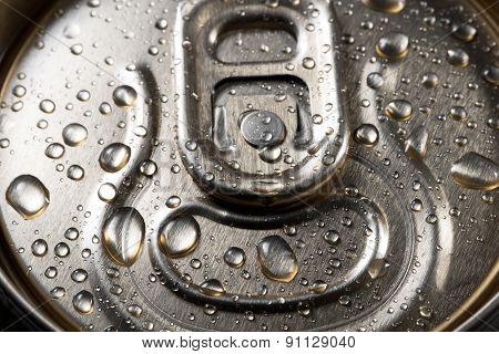 Beer Cans Closeup With Water Drops