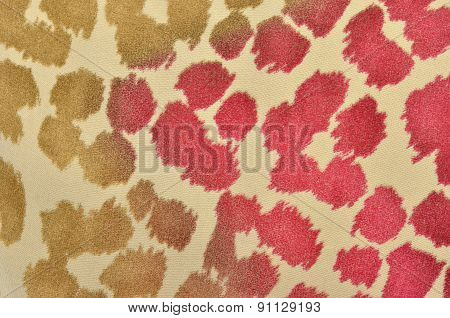 Brown And Pink Leopard Fur Pattern.